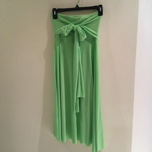 Strapless dress or swingy skirt long bow attached